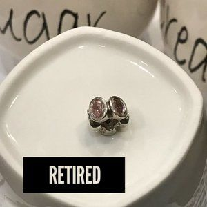 Pandora Retired Spacer Pink Oval Lights 790311PCZ